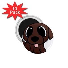 Newfie Brown Cartoon 1.75  Magnets (10 pack)
