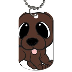 Newfie Brown Cartoon Dog Tag (One Side)