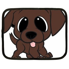 Newfie Brown Cartoon Netbook Case (XL)