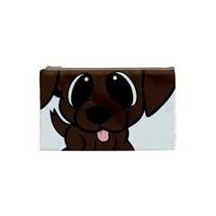 Newfie Brown Cartoon Cosmetic Bag (Small)
