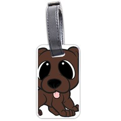 Newfie Brown Cartoon Luggage Tags (One Side)