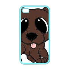 Newfie Brown Cartoon Apple iPhone 4 Case (Color)