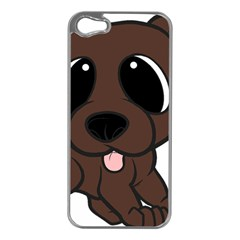 Newfie Brown Cartoon Apple iPhone 5 Case (Silver)