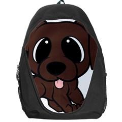 Newfie Brown Cartoon Backpack Bag