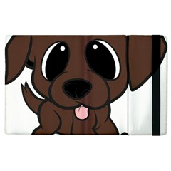Newfie Brown Cartoon Apple iPad 2 Flip Case