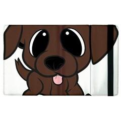 Newfie Brown Cartoon Apple iPad 3/4 Flip Case