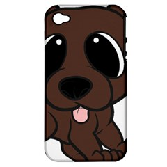 Newfie Brown Cartoon Apple Iphone 4/4s Hardshell Case (pc+silicone)