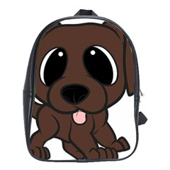 Newfie Brown Cartoon School Bags (XL)
