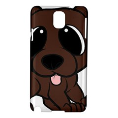 Newfie Brown Cartoon Samsung Galaxy Note 3 N9005 Hardshell Case