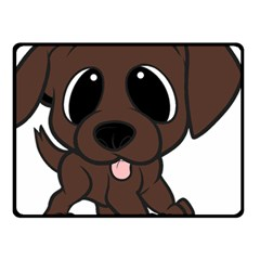 Newfie Brown Cartoon Double Sided Fleece Blanket (Small)