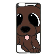 Newfie Brown Cartoon Apple iPhone 6 Plus/6S Plus Black Enamel Case