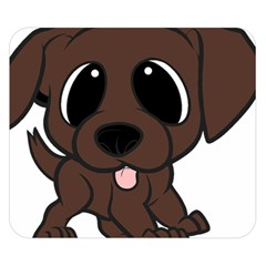 Newfie Brown Cartoon Double Sided Flano Blanket (Small)