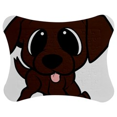 Newfie Brown Cartoon Jigsaw Puzzle Photo Stand (Bow)