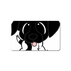 Newfie Cartoon Black White Magnet (Name Card)