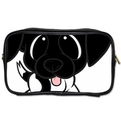 Newfie Cartoon Black White Toiletries Bags