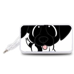 Newfie Cartoon Black White Portable Speaker (White)