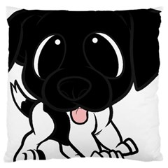 Newfie Cartoon Black White Large Cushion Case (One Side)