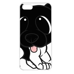 Newfie Cartoon Black White Apple iPhone 5 Seamless Case (White)