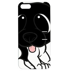 Newfie Cartoon Black White Apple iPhone 5 Hardshell Case with Stand