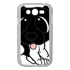 Newfie Cartoon Black White Samsung Galaxy Grand DUOS I9082 Case (White)