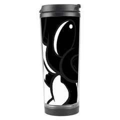Newfie Cartoon Black White Travel Tumbler