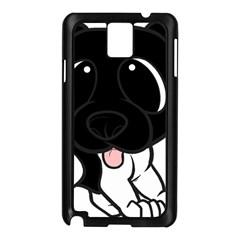 Newfie Cartoon Black White Samsung Galaxy Note 3 N9005 Case (Black)