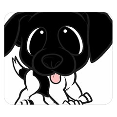 Newfie Cartoon Black White Double Sided Flano Blanket (Small)