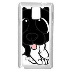 Newfie Cartoon Black White Samsung Galaxy Note 4 Case (White)