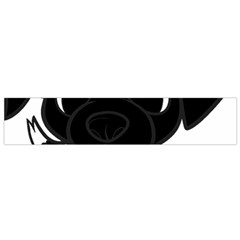 Newfie Cartoon Black White Flano Scarf (Small)