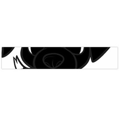 Newfie Cartoon Black White Flano Scarf (Large)