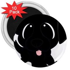 Newfie Cartoon 3  Magnets (10 pack)