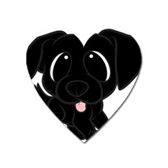 Newfie Cartoon Heart Magnet
