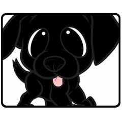 Newfie Cartoon Fleece Blanket (Medium)