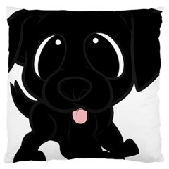 Newfie Cartoon Large Cushion Case (One Side)