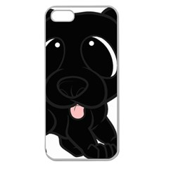 Newfie Cartoon Apple Seamless iPhone 5 Case (Clear)