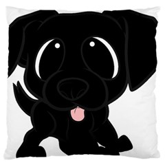 Newfie Cartoon Standard Flano Cushion Case (Two Sides)