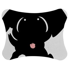 Newfie Cartoon Jigsaw Puzzle Photo Stand (Bow)