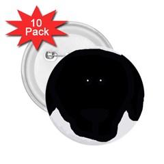 Newfie Dog Head Cartoon 2.25  Buttons (10 pack)