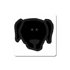 Newfie Dog Head Cartoon Square Magnet