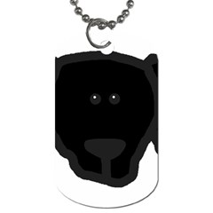Newfie Dog Head Cartoon Dog Tag (One Side)