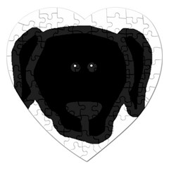 Newfie Dog Head Cartoon Jigsaw Puzzle (Heart)