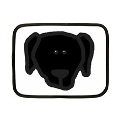 Newfie Dog Head Cartoon Netbook Case (Small)