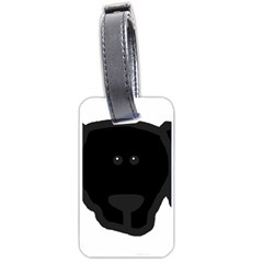 Newfie Dog Head Cartoon Luggage Tags (One Side)