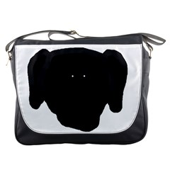 Newfie Dog Head Cartoon Messenger Bags