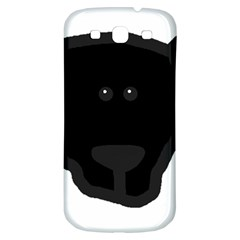 Newfie Dog Head Cartoon Samsung Galaxy S3 S III Classic Hardshell Back Case