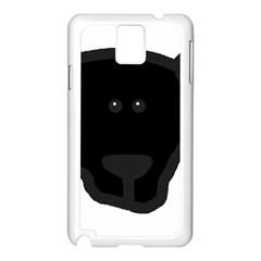 Newfie Dog Head Cartoon Samsung Galaxy Note 3 N9005 Case (White)