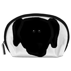 Newfie Dog Head Cartoon Accessory Pouches (Large)