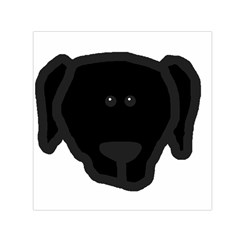 Newfie Dog Head Cartoon Small Satin Scarf (Square)
