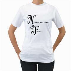 Newfie Fancier Women s T-Shirt (White) (Two Sided)