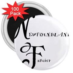 Newfie Fancier 3  Magnets (100 pack)